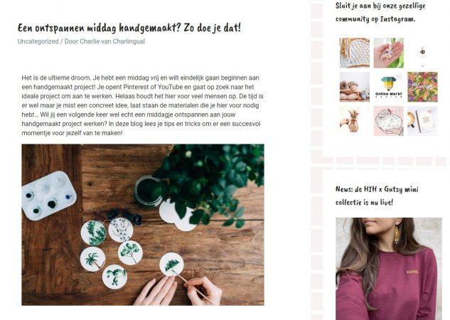 Handmade in Holland blog