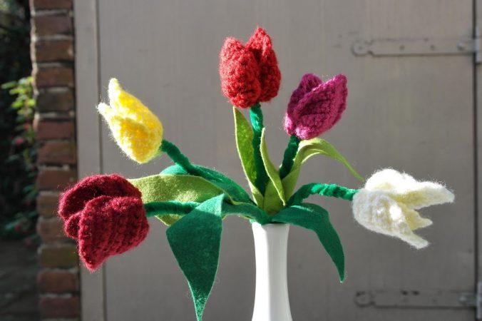Koningsdag tulpen haken