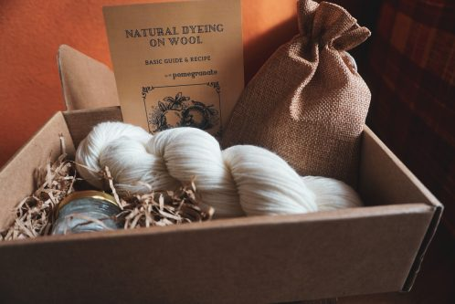 Natural Dying on Wool Achterpand Groningen